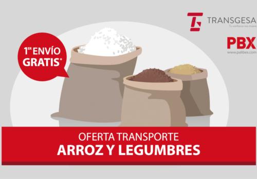 Transporta arroz y legumbres con Transgesa