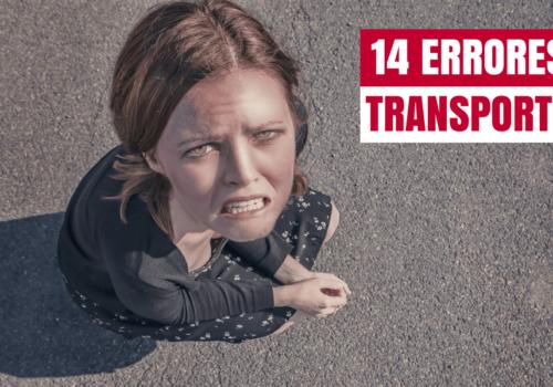 Los 14 errores más habituales del transporte de mercancías