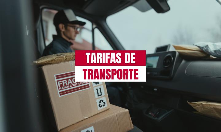 TARIFAS DE TRANSPORTE